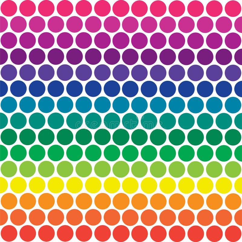 Pontos de polca do arco-íris ilustração stock