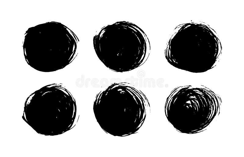 Pontos de tinta preta ajustados no fundo branco Ilustração da tinta ilustração royalty free