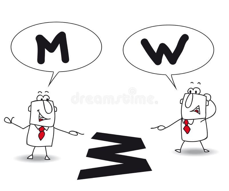 Pontos de vista diferentes ilustração royalty free