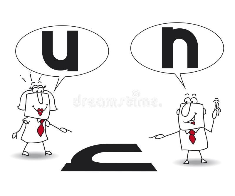 Pontos de vista diferentes ilustração stock