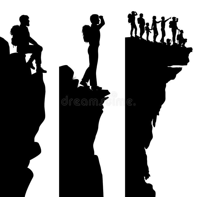 Pontos de vista do caminhante ilustração royalty free