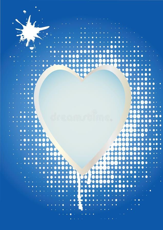 Pontos do branco do coração ilustração royalty free