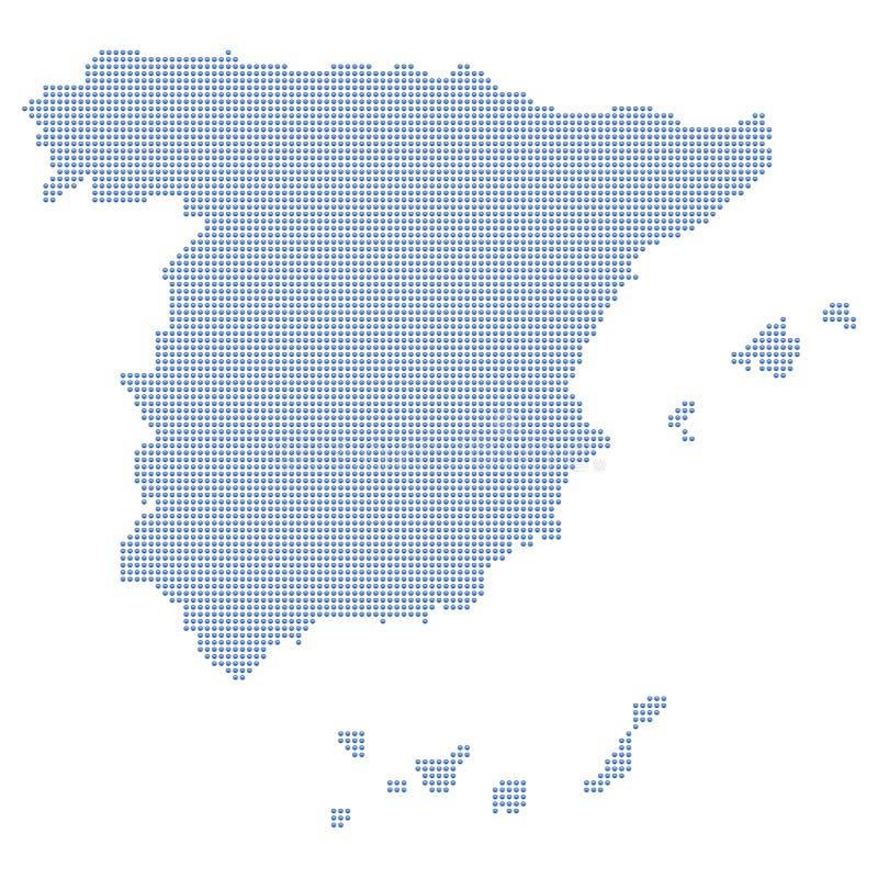 Pontos do mapa de Spain ilustração stock