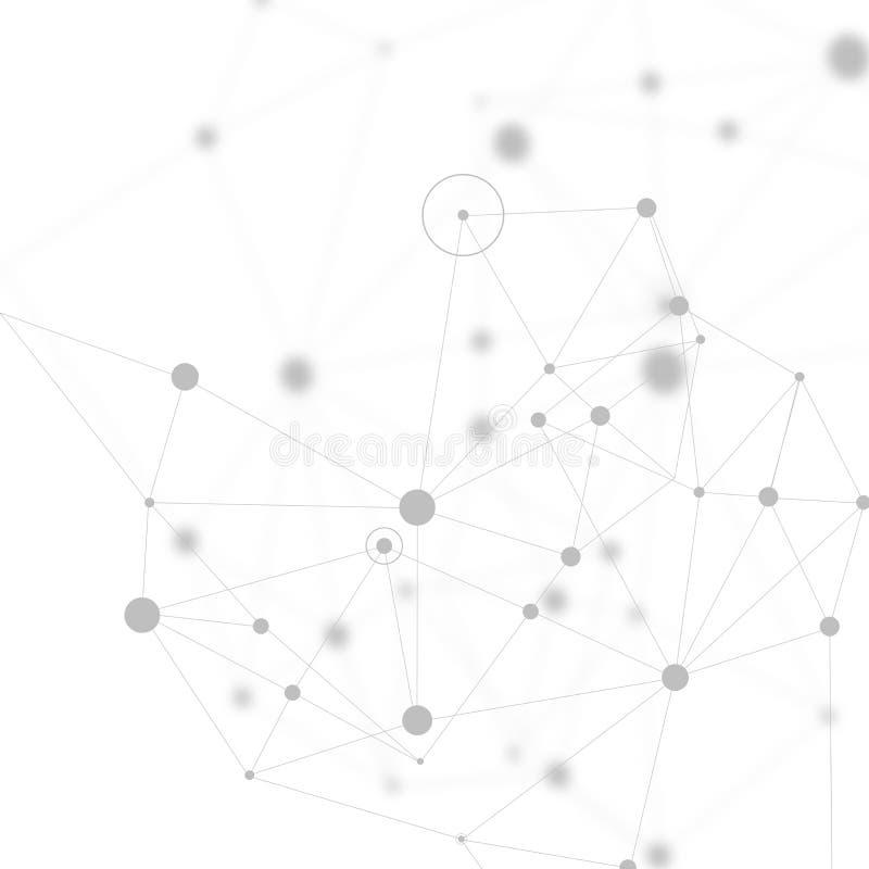 Pontos e linhas de conexão abstratos Technolog digital da conexão ilustração royalty free