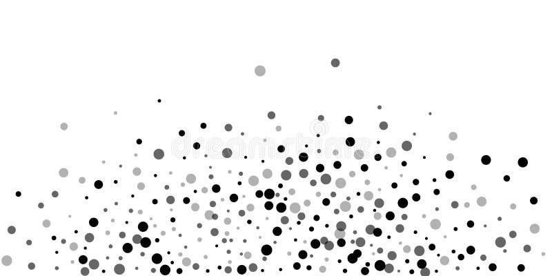 Pontos pretos aleatórios dispersados A obscuridade aponta o dispersio ilustração stock