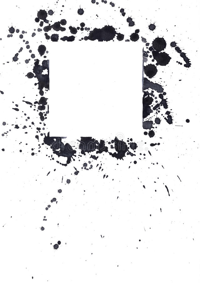 Pontos pretos da tinta fotografia de stock royalty free