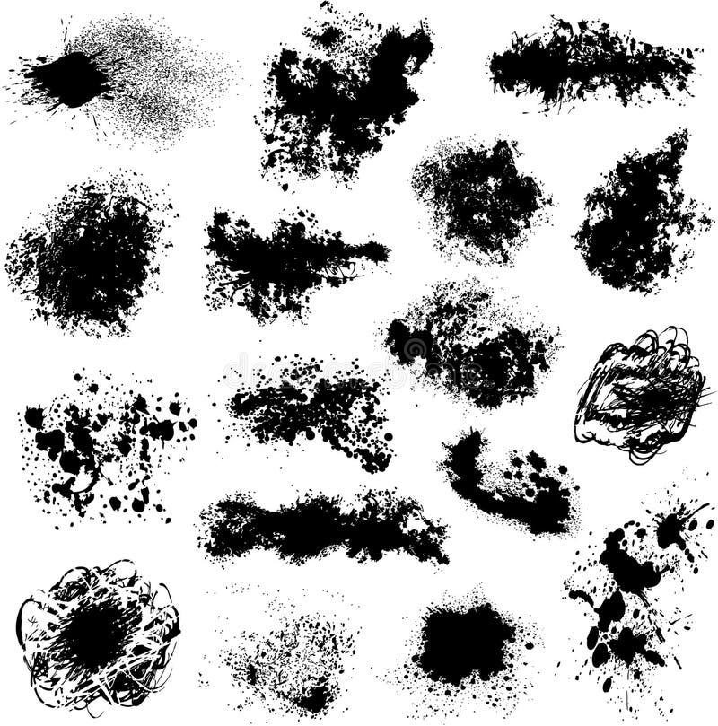 Pontos pretos diferentes   ilustração do vetor