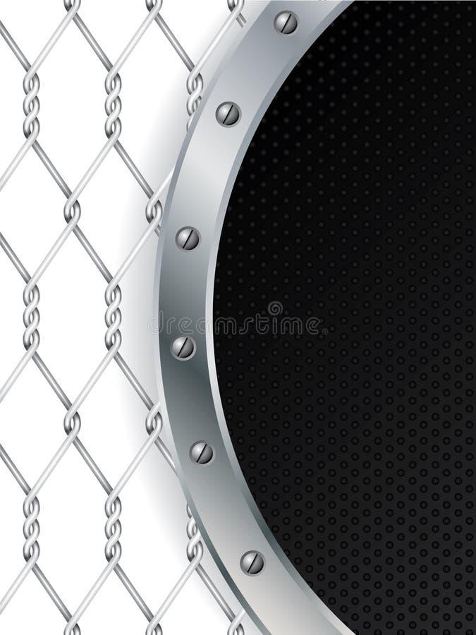 Pontos pretos e projeto metálico do fio ilustração royalty free