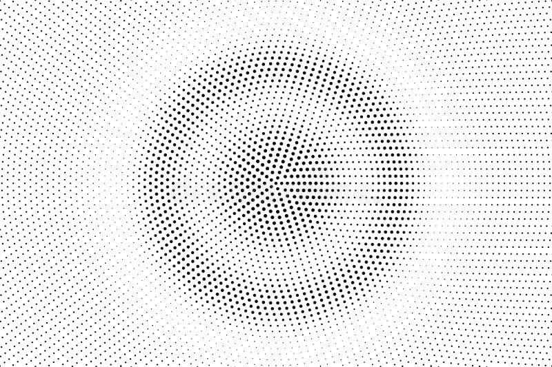 Pontos pretos no fundo branco Superfície perfurada abstrata Textura de intervalo mínimo lisa do vetor Inclinação redondo do dotwo ilustração stock