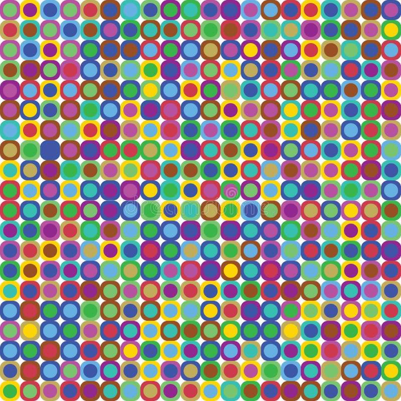 Pontos retros coloridos ilustração do vetor