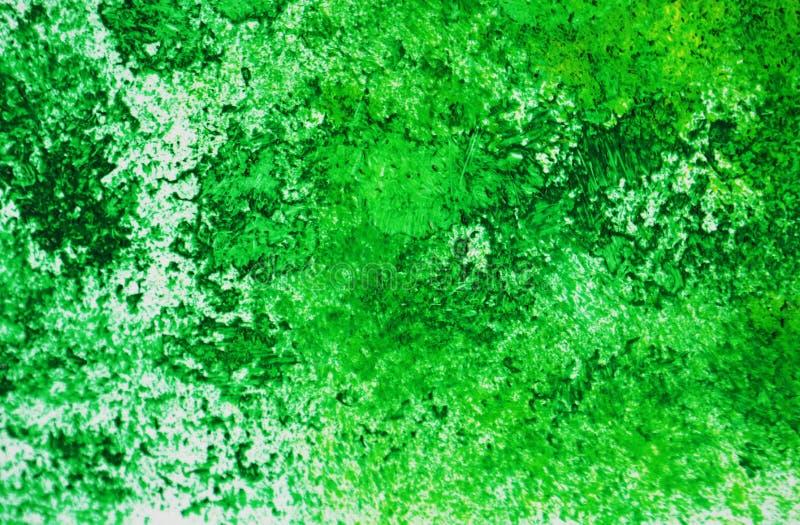 Pontos românticos brilhantes verdes que pintam o fundo da aquarela, fundo de pintura abstrato da aquarela fotos de stock