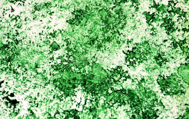 Pontos românticos escuros brilhantes verdes que pintam o fundo da aquarela, fundo de pintura abstrato da aquarela fotos de stock