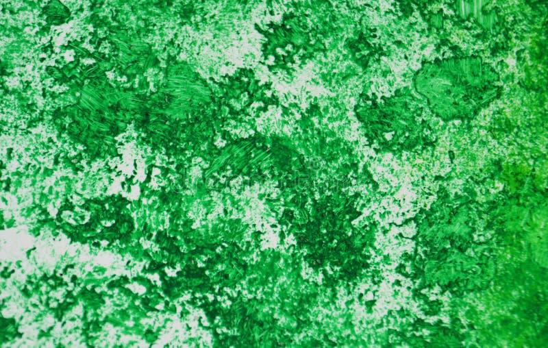 Pontos românticos prateados verdes que pintam o fundo da aquarela, fundo de pintura abstrato da aquarela imagens de stock royalty free
