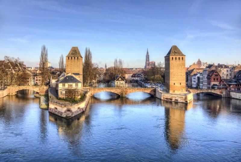 Ponts Couverts i Strasbourg royaltyfria foton