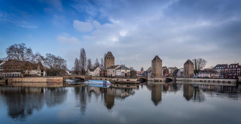 Ponts couverts - Straatsburg stock foto