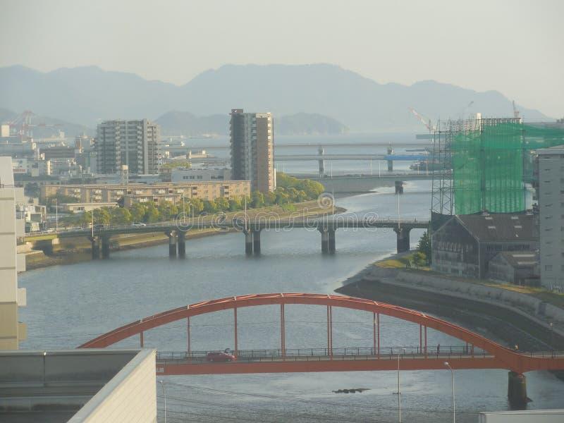 Ponts d'Hiroshima photographie stock libre de droits