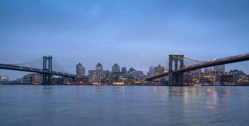 Ponts majestueux de NYC image stock