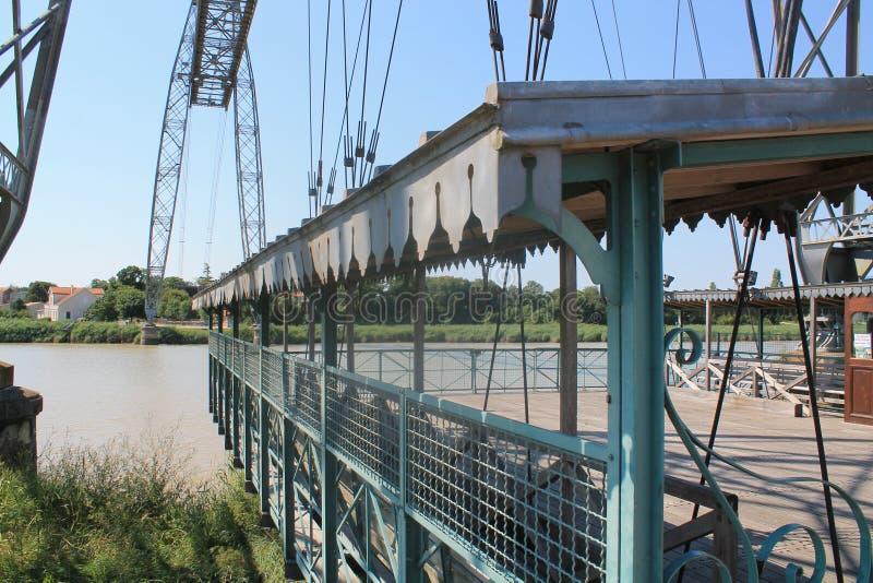 Ponttransbordeur DE Rochefort (Frankrijk) stock foto's