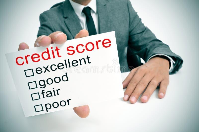 Pontuação de crédito fotografia de stock