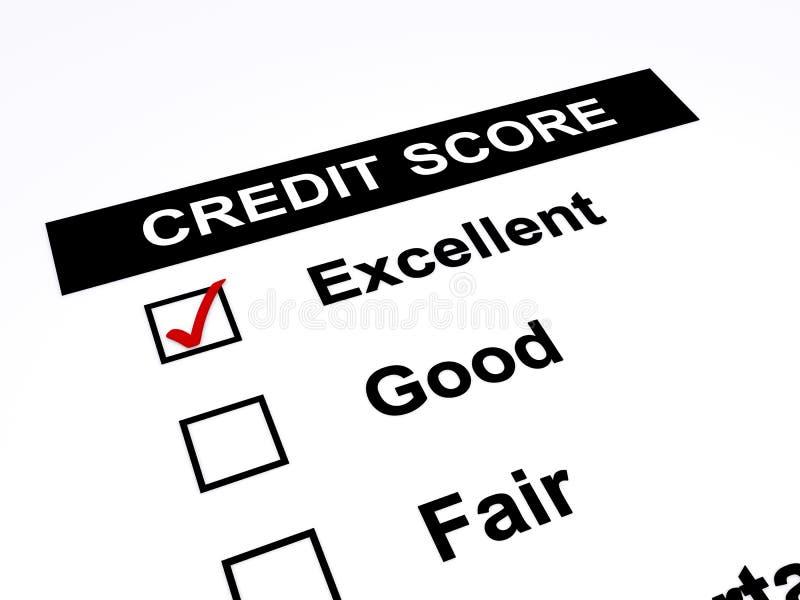 Pontuação de crédito ilustração stock