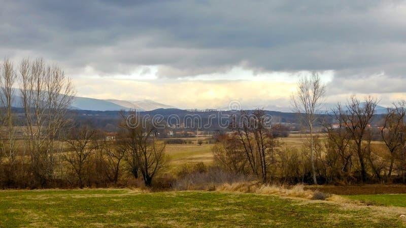ponure krajobrazowa zimy obraz royalty free
