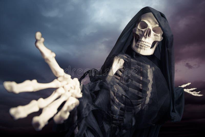 Ponurego reaper/anioł śmierć obrazy royalty free