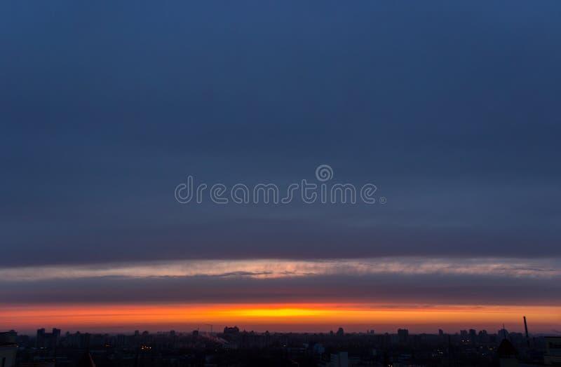 Ponury Evening Cloudscape obrazy royalty free