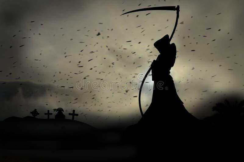 Download Ponury żniwiarz ilustracji. Ilustracja złożonej z śmierć - 57672306