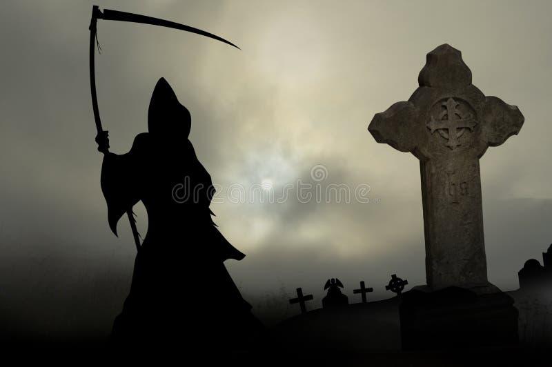 Download Ponury żniwiarz ilustracji. Ilustracja złożonej z śmierć - 57672846