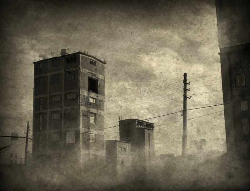 Ponury pejzaż miejski zdjęcie stock