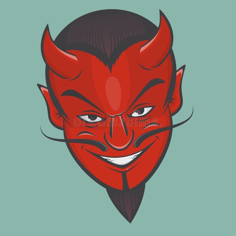Ponury satan twarzy clipart ilustracji