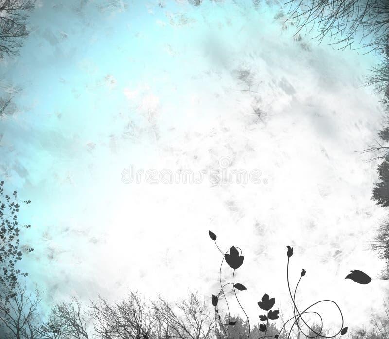 ponury tła zimy. zdjęcie royalty free
