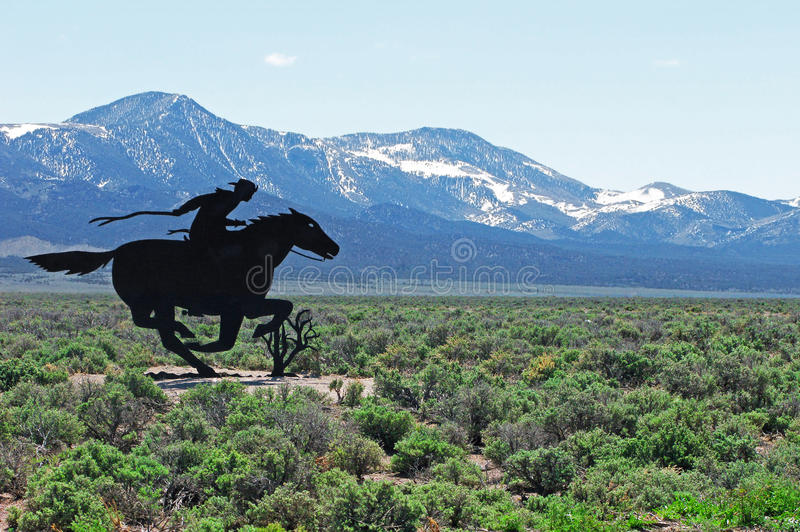 Pony Express obraz stock