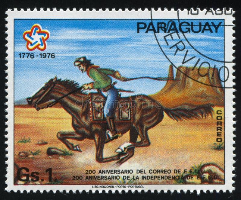 Pony Express rider stock photos