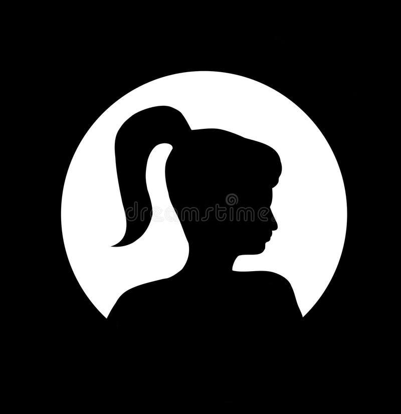 ponytail девушки бесплатная иллюстрация