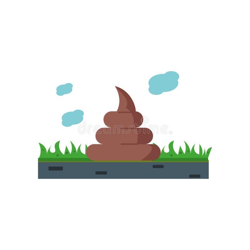 Poo σημάδι και σύμβολο εικονιδίων διανυσματικό που απομονώνονται στο άσπρο υπόβαθρο, έννοια λογότυπων Poo ελεύθερη απεικόνιση δικαιώματος