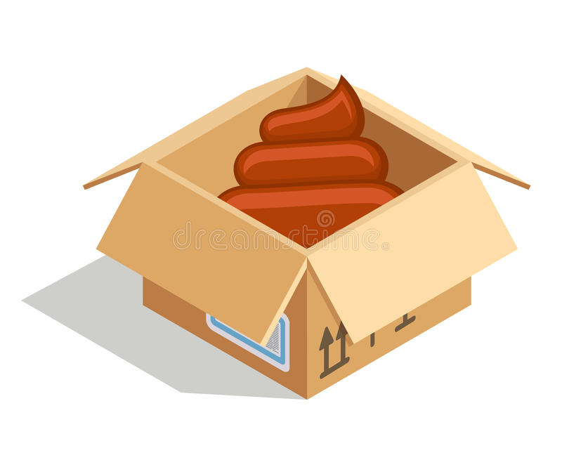 Poo in box stock illustration