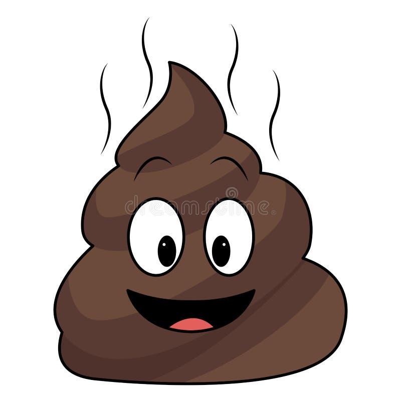 Poo chat emoticon vector illustration