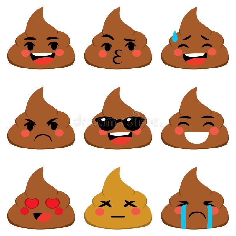 Poo Emoji royalty ilustracja