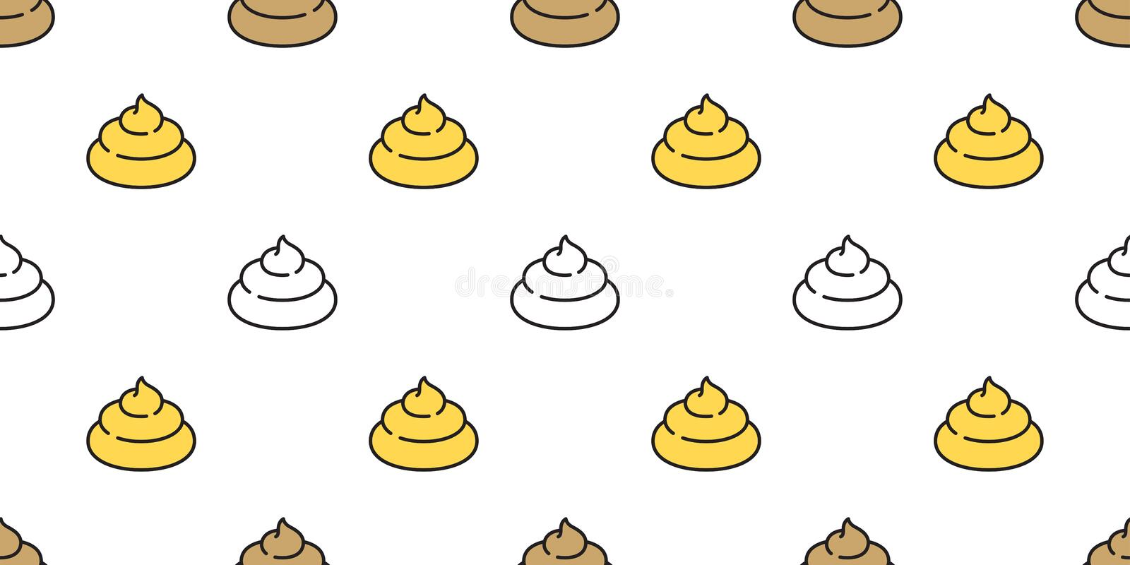 Poo seamless pattern vector isolated dog repeat wallpaper tile background icon Cartoon illustration. Cute royalty free illustration