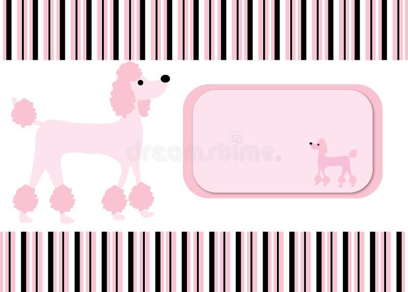 Poodle ανασκόπηση καρτών λωρίδων σκυλιών ελεύθερη απεικόνιση δικαιώματος