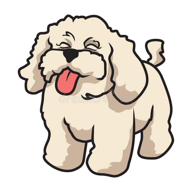 Poodle. Cartoon illustration of a poodle dog vector illustration