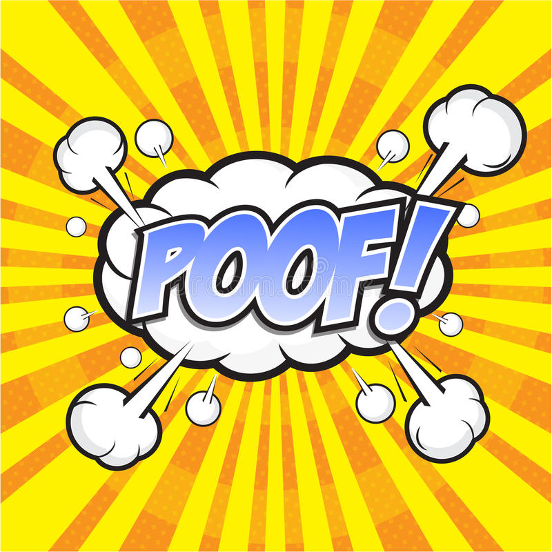 POOF! komiczny słowo royalty ilustracja
