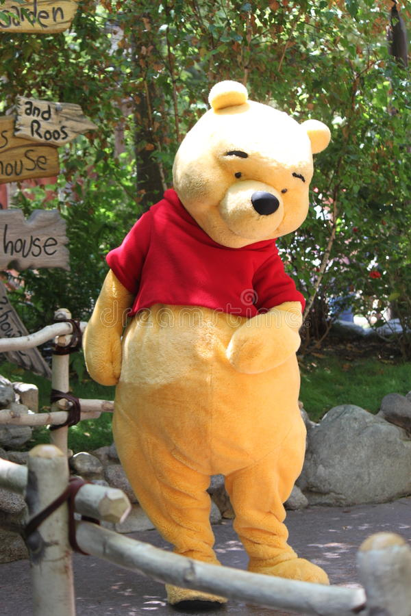 Pooh from Disneyland California royalty free stock photos