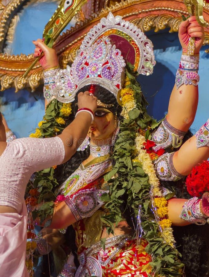 Pooja di Durga fotografia stock
