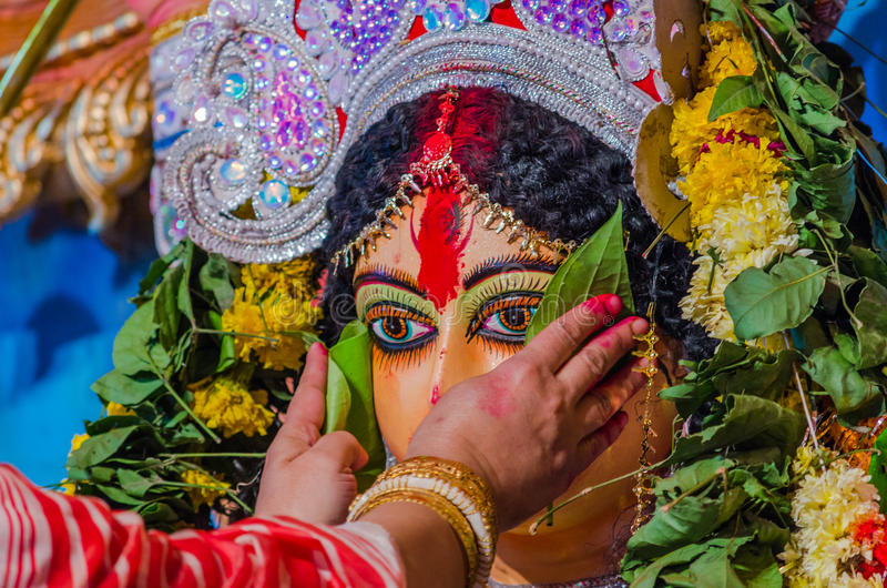 Pooja di Durga immagine stock