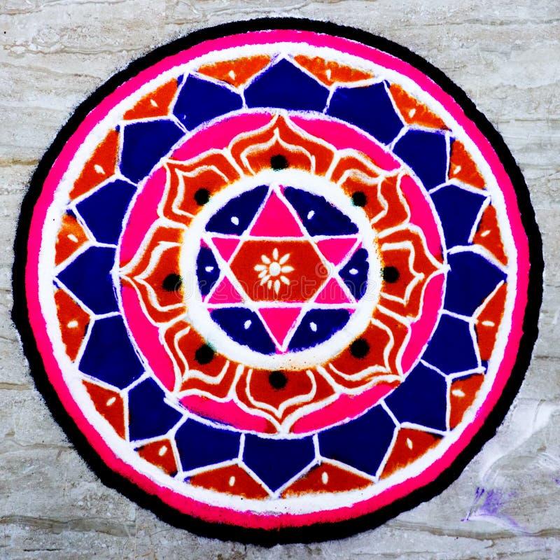 Pooja indù della mandala immagini stock