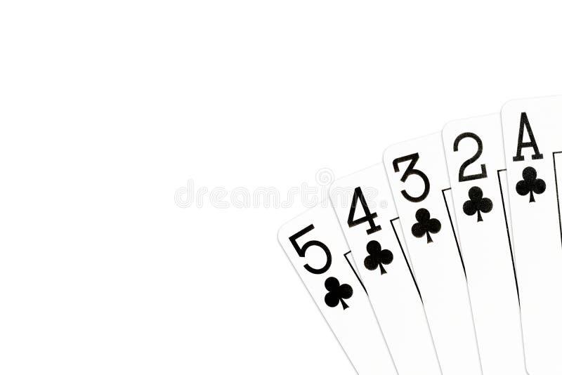 Pookhand 5 hoge rechte vloed in clubs vector illustratie