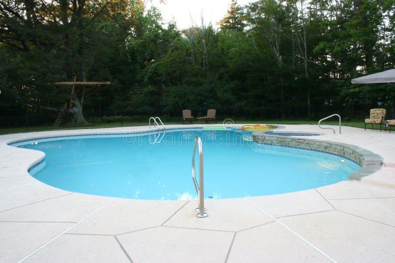 Pool 1 van Inground stock foto's