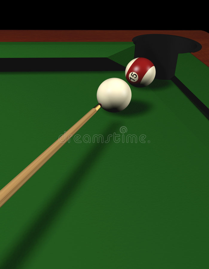 Pool. Table with two balls - 3d render vector illustration